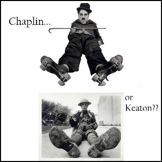 comparison contrast of chaplin and keaton Comedy flourished: arbuckle, chaplin, lloyd, keaton and more it was a great era for light-hearted silent comedy, with the triumvirate of humorists: charlie chaplin, buster keaton, and harold lloyd, and the early popularity of roscoe fatty arbuckle until a scandal destroyed his career in 1921.