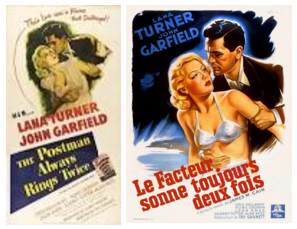 An American poster for the movie (left) beside its more risque French version.