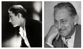 Left to right: John Barrymore, in 1920 and 1940.